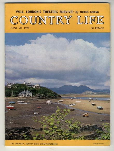 1974 COUNTRY LIFE MAGAZINE 20 June BORTH-Y-GEST Lyme Regis CASTLE EDEN DENE West Wycombe